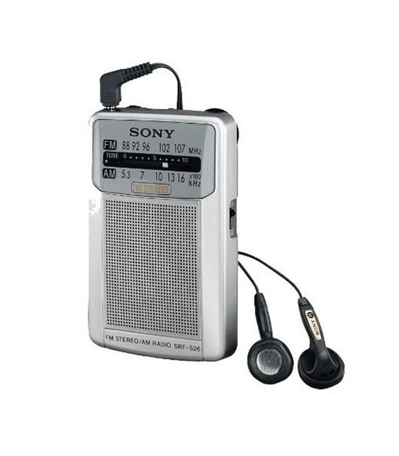 Radio Sony SRF-S26 |Portátil, color plata